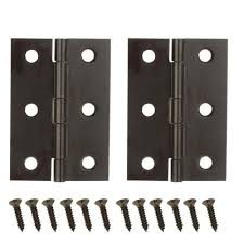 kitchen cabinet door hinges at home depot everbilt 2 1 2 in x 1 9 16 in rubbed bronze middle hinges 19784 the home depot