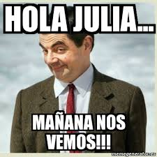 Julia Meme - meme mr bean hola julia ma祓ana nos vemos 18691372