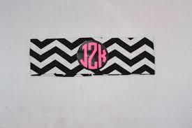 monogram headband chevron monogram headband fabric jewels kennedy designs