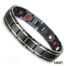 black fashion jewelry bracelet images 4 in 1 magnetic new fashion jewelry black gold titanium steel jpg