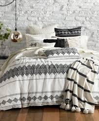 lucky brand embroidered ikat 3 pc full queen duvet cover set