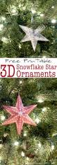 free printable 3d snowflake star ornaments a houseful of handmade