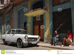 old peugeot cars old peugeot in the streets of havana editorial stock image image