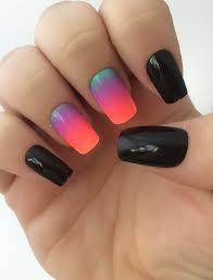 ombre fake nails bright nail polish black nail polish false