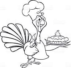 thanksgiving turkey chief cook serving pumpkin pie