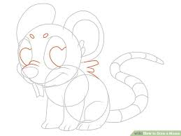 3 ways to draw a mouse wikihow