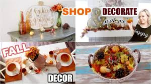 fall home decor shop decorate with me inexpensive hobby lobby