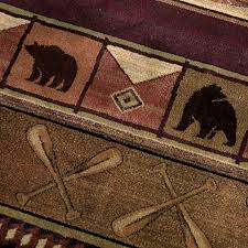 Rustic Cabin Lodge Area Rugs Delectably Yours Com Colorado Lodge Area Rug Collection By United