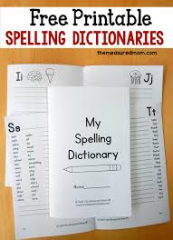 printable spelling dictionary for kids spelling dictionary