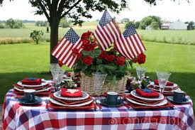 Fourth Of July Table Decoration Ideas Memorial Day Table Stonegable