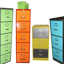 Vintage Metal File Cabinet Vintage Retro Steel Vertical File Cabinet Customized Office