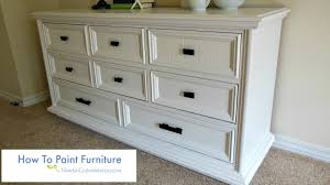 Paint Wood Furniture by How To Paint Furniture Youtube