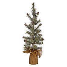 Pre Lit Mini Christmas Tree - buy john lewis pre lit snowy twig christmas tree white 4ft