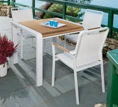 tavolino da terrazzo tavolo da giardino in alluminio bianco niagara pircher