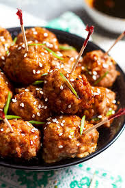 baked chicken meatballs with teriyaki sauce eatwell101