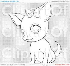 chihuahua clipart coloring page pencil and in color chihuahua