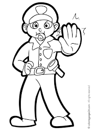 police car coloring pages printable 02 police officer helping kid