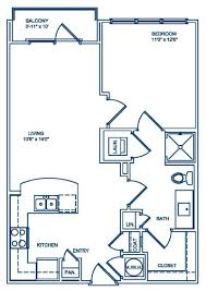 bedroom floorplan 1 u0026 2 bedroom apartments in atlanta ga camden fourth ward