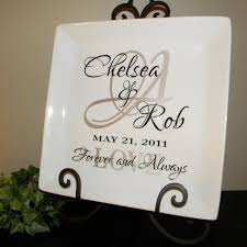 personalized wedding gift plate anniversary gift for couple