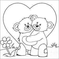 simple valentines coloring free colouring pages kids ages