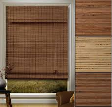 wondrous brown bamboo insulated roman blinds with many bamboo
