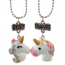 best friends friendship necklace images Onnea 2 pcs set unicorn pendant best friends necklace for kids jpg