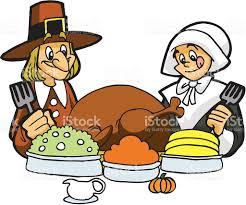pilgrims thanksgiving meal stock vector 163826453 istock