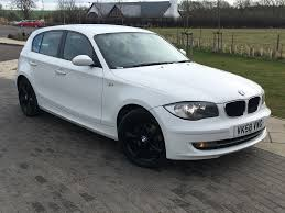 black bmw 1 series bmw 1 series 2 0 118d es 5dr white with black alloys mcm auto