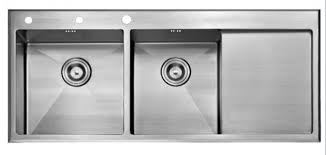Top Mounted Kitchen Sinks by Gorgeous Stainless Steel Double Bowl Kitchen Sink Top Mount Double