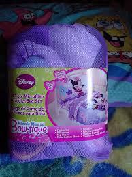 Minnie Mouse Bedspread Set Amazon Com Disney Minnie Mouse 4pc Toddler Bedding Set Bow Tique