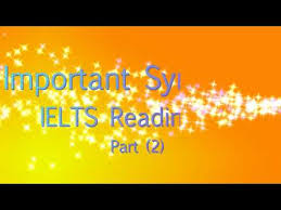 Synonyms For Light Synonyms For Ielts Reading Part 2 Youtube