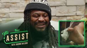 marshawn lynch gets a pedicure and drops some knowledge the