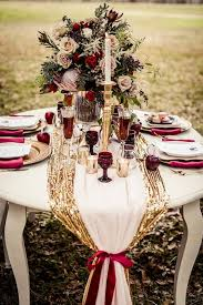 themed wedding decorations 30 fall burgundy and gold wedding ideas deer pearl flowers