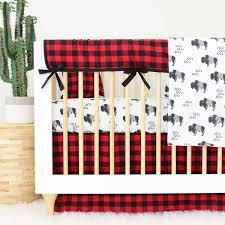 Plaid Crib Bedding Axel S Buffalo Check Baby Boy 3 Crib Bedding Caden