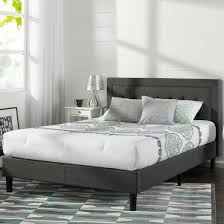 Gray Platform Bed Dupont Tufted Upholstered Platform Bed Queen Dark Gray Sleep