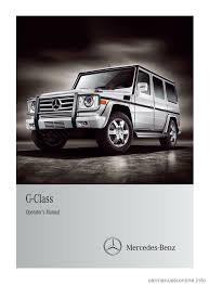 mercedes benz g class 2012 w463 owner u0027s manual