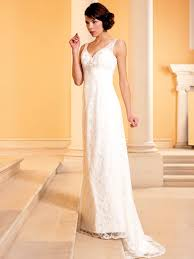 pretty sheath lightweight v neck lace wedding dress pcb00051