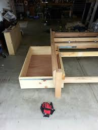 Make Your Own Cheap Platform Bed by Bed Frames Diy Twin Bed Frame Plans Full Size Storage Bed How To