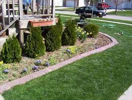 good looking garden landscaping decoration with various border