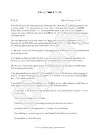 promissory note template free sample promissory note format for loan