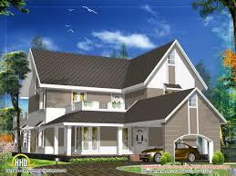 modern cottage house design at the slanted roof designs