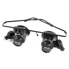magnifier with led light jeweler magnifying glasses 20x glasses type watch repair magnifier