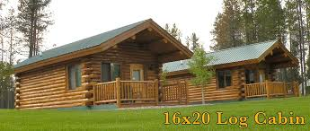 cabin home 16x20 log cabin meadowlark log homes