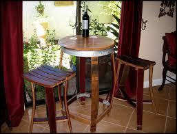 Wine Cellar Bistro - barrel stave bistro table and chairs garden ideas pinterest