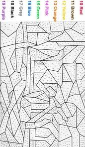 beautiful color number coloring pages adults 35 coloring