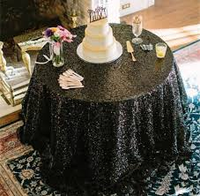 Wedding Table Clothes Black Sequin Tablecloth Sequence Table Cloth Table Runner