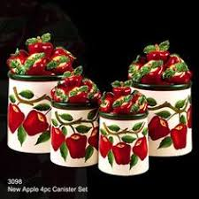 apple kitchen canisters apple decor kitchen canisters exclusives at collectionsetc