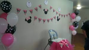 minnie mouse theme party diy birthday banner s and wall decorations for a minnie mouse