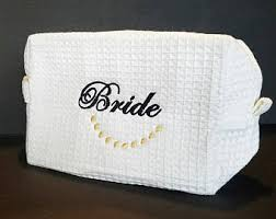 bridal makeup bag cosmetic bag etsy