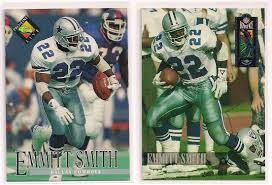 lot of 2 emmitt smith promotional football cards